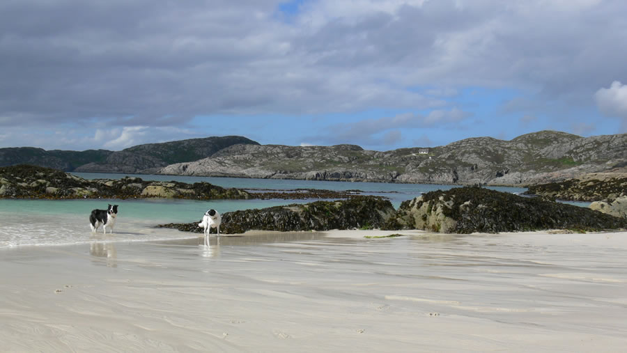 Sandy beach near Lochinver